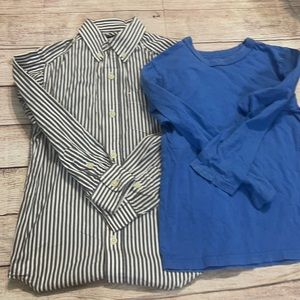 Children's Place Button Up and Long Sleeve Tee